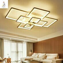 New square rings designer Modern led ceiling lights for living room bedroom Remote control iron body ceiling lamp light fixture(China (Mainland)) False Ceiling Living Room, Ceiling Design Living Room, Living Room Flooring, Living Room Lighting, Living Room Designs, Modern Led Ceiling Lights, Ceiling Light Shades, Lamp Light, Dining Room Light Fixtures