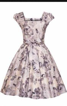 Stunning-Lady-vintage-dress-50s-Rockabilly-Floral-Print-Size-18