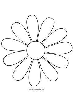 daisy cut out template - image result for flower template with cut out lines for