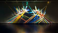 Stephen Knapp has produced colourful light installations using simply light and dichroic glass for over thirty years. Just stunning. #seetheworld