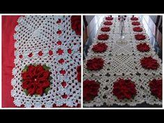 Flores eToalhinhas do Caminho de Mesa com Flores Vermelhas em Crochê com Cristina Coelho Alves - YouTube