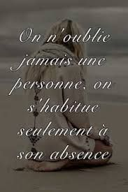 """We never really forget someone, we just get used to the absence of them."" (French to English) Top Quotes, Life Quotes, Cool Words, Wise Words, Plus Belle Citation, Tu Me Manques, Quote Citation, French Quotes, Statements"