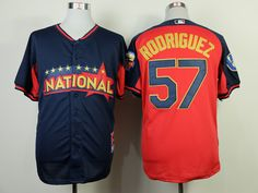 WHOLESALE CHEAP 2014 MLB NATIONAL ALL STAR BREWERS #57 RODRIGUEZ BLUE JERSEY PURCHASE