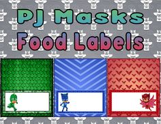 Shop for on Etsy, the place to express your creativity through the buying and selling of handmade and vintage goods. 4th Birthday Boys, 3rd Birthday Parties, Birthday Party Decorations, Third Birthday, Pj Masks Printable, Lincoln Birthday, Tent Cards, Mask Party, Party Entertainment