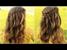 DIY WATERFALL BRAID HAIR TUTORIAL | Braidsandstyles12 - YouTube