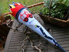 Schultüten - Schultüte aus Stoff Feuerwehr - ein Designerstück von lisifrey bei DaWanda