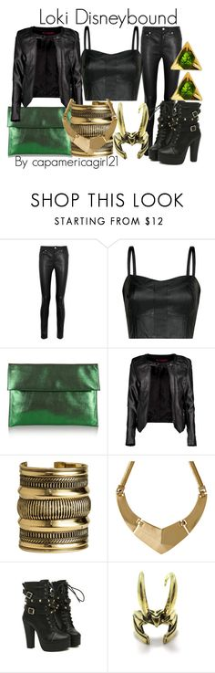 """""""Loki Disneybound"""" by capamericagirl21 ❤ liked on Polyvore featuring Acne Studios, MANGO, Marni, Boohoo, H&M and Ruifier"""