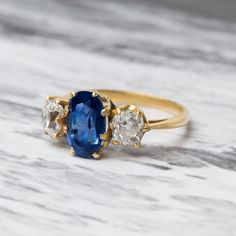 Sapphire Ring with French Hallmarks
