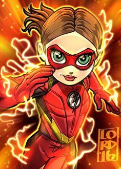 Art by Lord mesa-art Jesse Quick! O Flash, Flash Art, Flash And Arrow, Lord Mesa Art, Flash Characters, Chibi, Flash Wallpaper, The Flash Grant Gustin, Univers Dc