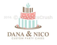 Torta Logo Diseño tortas fiesta insignia Whimsical Cake Logo niños partes Logo