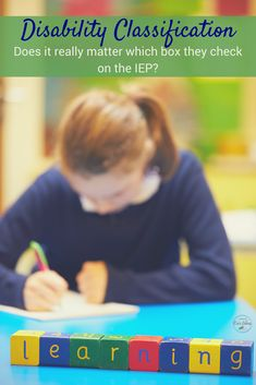 """Does it matter which box is checked on your child's IEP under """"Disability Classification?"""" Can they have more than one box checked? What if you disagree with the team, what can you do? via @lisalightner"""