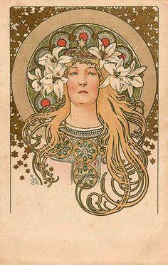 Alfons Mucha - Carte postale, via Speziali