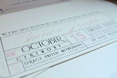Vintage Glamorous Hollywood Movie Ticket Wedding Invitation - Tear-off RSVP from DivaGoneDomesticToo #Etsy