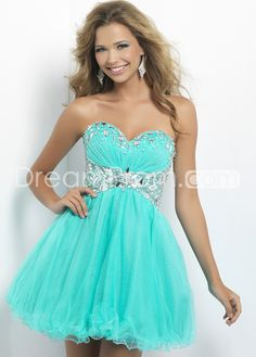 2013 Style A-line Sweetheart Beading Sleeveless Short / Mini Tulle Cocktail Dresses/ Homecoming Dresses