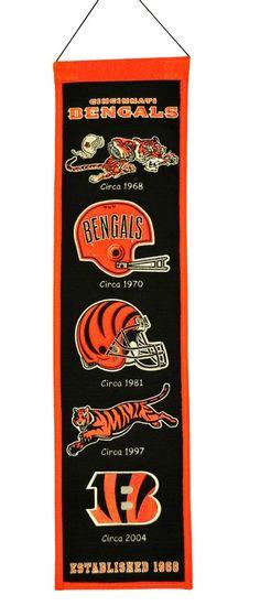 Cincinnati Bengals Banner 8x32 Wool Heritage