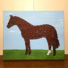 MADE TO ORDER Horse String Art Sign by StringsbySamantha on Etsy