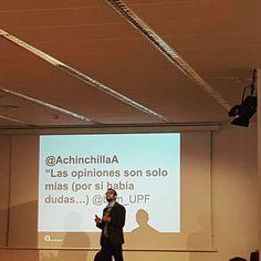 """Sesión sobre #MarcaPersonal en la UPF Barcelona School of Management.  """"Las opiniones son solo mías... decían algunos. Eso ya se acabó. Lo que dice la marca personal repercute también en la marca corporativa"""". #ComDigital"""