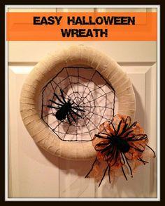 Crafty In Crosby: Easy Halloween Wreath