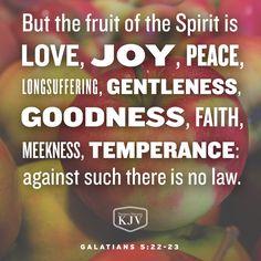 KJV Verse of the Day: Galatians 5:22-23