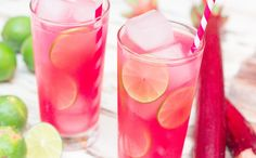 Rhubarb Limeade - Vegan Recipe - Cooking Stoned