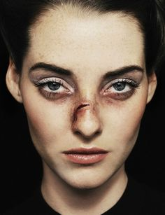 portrait, minimalism, pure, strong broken nose