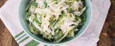 Kohlrabi Slaw-Michael Simon. Use the fresh ingredients of the summer to change up your normal slaw recipe!