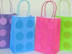 This Listing is for 12 HANDMADE Blocks inspired goody Bags, as shown on the picture. You will assorted pastel colors like in the picture. They are perfect for birthdays, milestone birthdays. These Blo