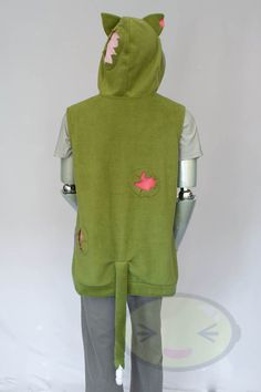 Zombie Cat Hoodie Costume Cosplay Adult Size by lemonbrat on Etsy