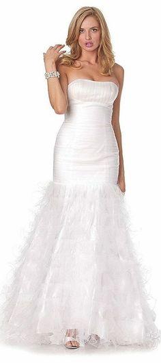 Sheath Ivory Formal Dress -discountdressshop -sheathdress -lace ...