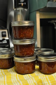 tomato jam by Marisa | Food in Jars, via Flickr  Something to do with the billions of cherry tomatoes I'm gonna end up with this year