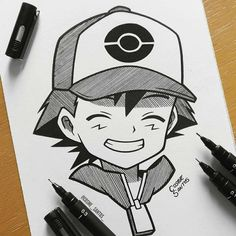 Cute Doodle Art, Doodle Art Designs, Doodle Art Drawing, Pokemon Sketch, Anime Sketch, Art Drawings Sketches Simple, Cute Drawings, Naruto Drawings, Cartoon Drawings