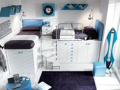 image cool bunk beds gorgeous electric cool beds for dogs along with Bedroom Loft, Modern Bedroom, Girls Bedroom, Bedroom Ideas, Bed Ideas, Bedroom Decor, Blue Bedroom, Bedroom Small, Bedroom Inspiration