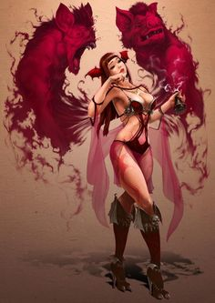 Witch Picture  (2d, fantasy, witch, succubus)