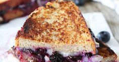 Blueberry, Brie & Lemon Curd Grilled Cheese - Creamy Brie complements sweet blueberries and lemon curd in an unexpected combination that satisfies both your savory and sweet tooth.