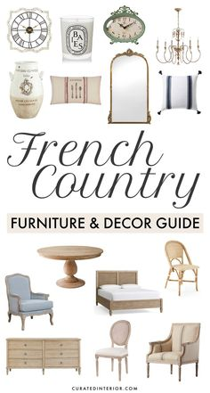The French Country Furniture and Decor Guide – by Curated Interior What is Decoration? Decoration is the art of decorating … French Country Furniture, French Country Bedrooms, French Country Living Room, French Country Farmhouse, French Home Decor, French Country Style, French Country Decorating, Country Décor, Country Cottages