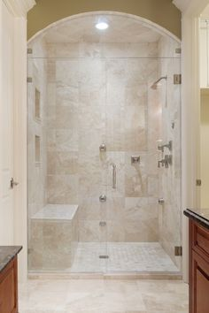 love this shower; consider lighting in shower to make it feel bigger