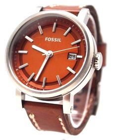 Fossil Men's Watch with Date Tan Face C221010 with Black / Browns Band | eBay