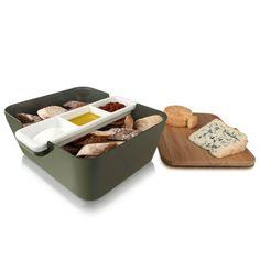 cutting board, bread basket & bowls - all in one