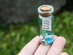 You'll always be my favorite. You are so loved. Te quiero. Mensaje en una botella. Miniaturas. Regalo personalizado. Cisne. de EyMyMessage en Etsy