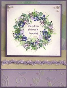 Floral Wreath by Julia Freeman. Stamps from Rubber Stamp Tapestry https://pegstamps.com/floral-wreath-peg-stamp-set.html