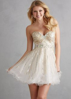 mind-blowing Cheap Ivory Crystal Sequined Strapless Tulle Short Prom Dresses by Alinna in Retroterest. Read more: http://retroterest.com/pin/cheap-ivory-crystal-sequined-strapless-tulle-short-prom-dresses/