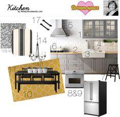 """IKEA DREAM HOME + BLOGGER STYLE"", the kitchen @Kim Woodward.com"