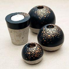 Kerzenständer - Kerzenständer Sternenstaub - ein Designerstück von NoZi bei DaWanda