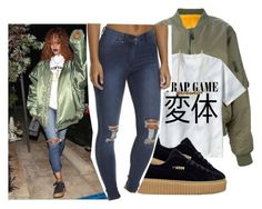 """""""Steal the look: Rihanna✨"""" by eazybreezy305 ❤ liked on Polyvore featuring LISKA, Cheap Monday, GetTheLook and CelebrityStyle"""