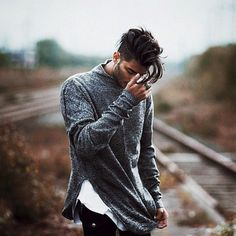 Awesome grey sweater #menssweater #mensstyle