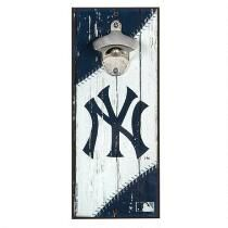 New York Yankees Beer Bottle Opener Wall Decor - Christmas Tree Shops and That! - Home Decor, Furniture & Gifts Store Yankees Fan, New York Yankees, Yankees Logo, Carved Wood Signs, Wooden Signs, Epoxy, Retro Fan, Beer Bottle Opener, Bottle Openers