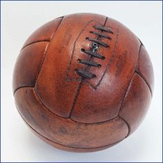 Old-fashioned rugged soccer ball. A must have for any man.