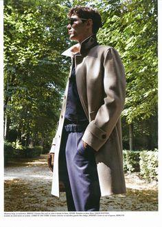 Arthur Gosse in this shoot from Pablo Arroyo . Sibylle de Saint Phalle styles the French model for Série Limitée Les Echos