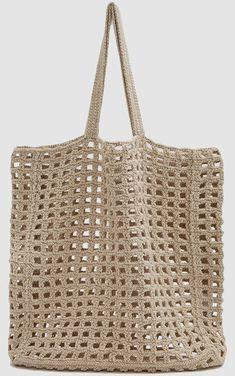 Crochet Clutch Crochet Bags Knit Crochet Boho Bags Clutch Purse Straw Bag Purses And Bags Knitted Bags Tricot Crochet Tote, Crochet Shoes, Crochet Handbags, Crochet Purses, Best Leather Wallet, Vintage Crochet Patterns, Net Bag, Boho Bags, Market Bag