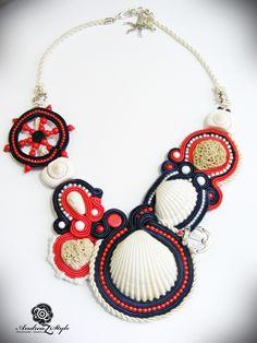Soutache necklace - Andrea Zelenak S0235